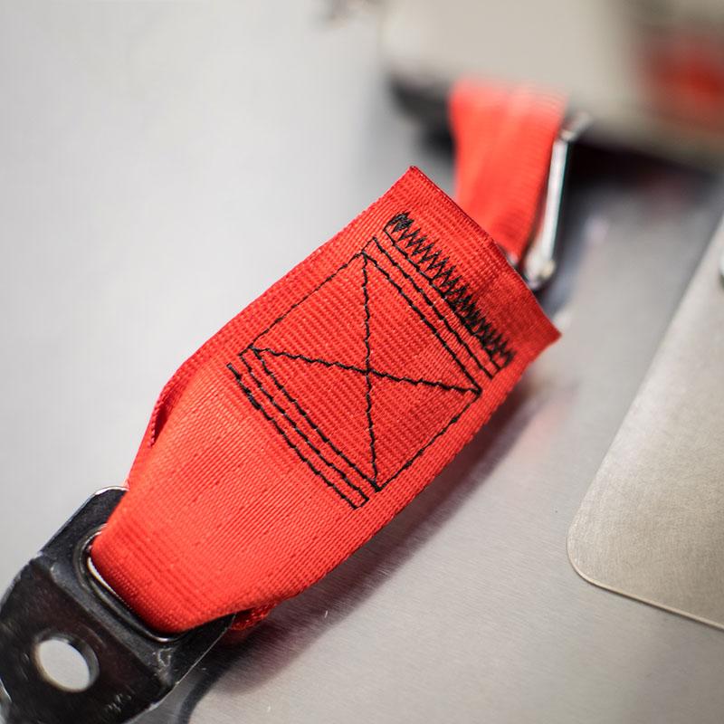 Seatbelt stitching pattern webbing replacement